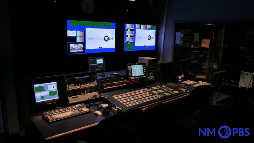 Interior view of the NMPBS studio control room.