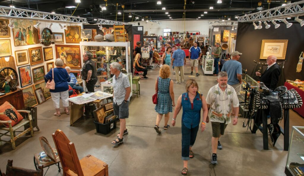 Great Southwestern Art and Vintage Show exhibition hall.